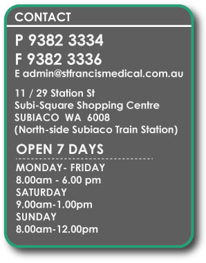 st francis medical centre subiaco phone